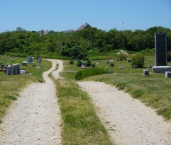 Dirt Road that passes through the cemetery