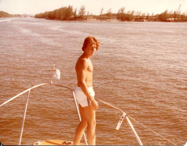 My husband, Mike as a kid in Ft. Lauderdale